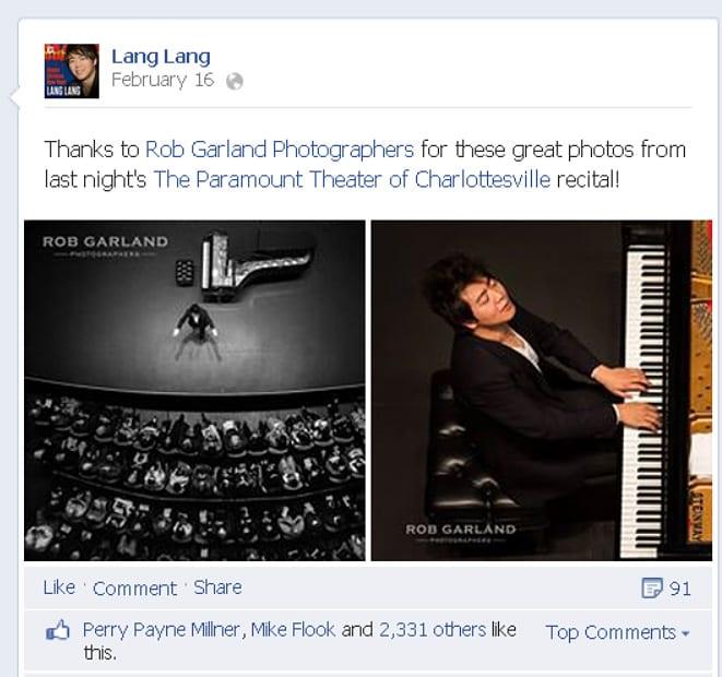 Lang Lang - Facebook - blog
