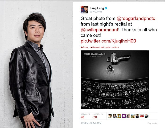 Lang Lang - tweet - blog