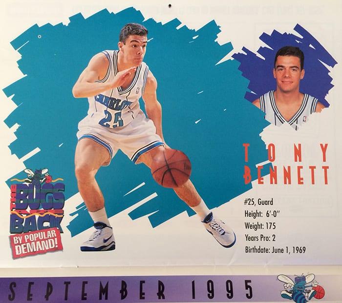 Tony Bennett - Hornets Calendar 1995 - blog